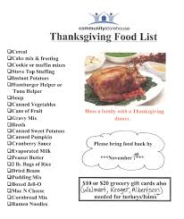 thanksgiving food items list bootsforcheaper