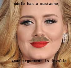 Mustache Meme - adele with a mustache meme by pinkiedash4ever on deviantart