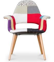 chaise saarinen chaise scandinave patchwork inspirée eero saarinen lestendances fr