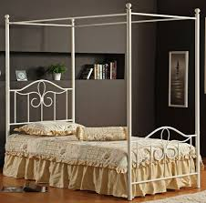 Wrought Iron Canopy Bed Design Bedroom With Wrought Iron Canopy Bed Classic Creeps