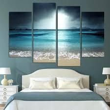 Ocean Themed Home Decor by Wall Ideas Beach Wall Decor For Bathroom Sunset Beach Canvas