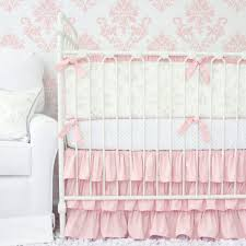 Gray And Pink Crib Bedding Lovely Damask Vintage Gray Pink Crib Bedding Set By Caden