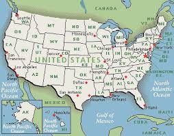 map usa states boston map of the united states america with state names inside usa
