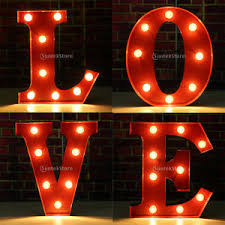 valentines lights led letter lights valentines gift circus style light