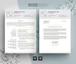 Best Resume Builder For Mac 2015 by Simple Resume Template Brown Resume Templates Creative Market