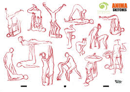 anima sketchbook animation sketches acroyoga poses
