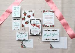 wedding invitation set country invite set floral wedding invitation folksy