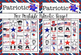 thanksgiving bingo free printable cards free printable 4th of july patriotic bingo