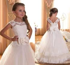 2016 lace ball gown tulle floor length baby birthday party