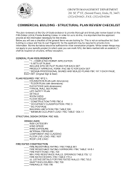 commercial building structural plan review checklist