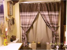 curtains u0026 drapes marvelous double swag shower curtain stunning