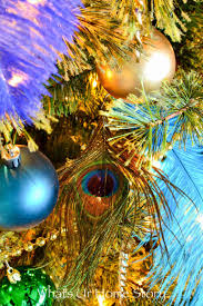 the blue and green christmas tree decorations family room more