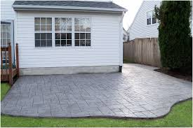Small Paver Patio by Backyards Excellent Backyard Concrete Patio Simple Backyard