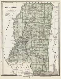 State Map Of Mississippi by Marshall County Msgenweb