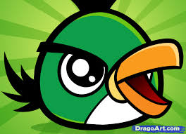 learn draw chibi green angry bird video game characters