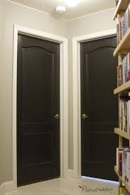 Interior Door Color Painting The Interior Doors Black