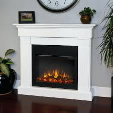full image for real flame white wood wall mount electric fireplace duraflame tv stand target