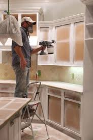 Spray Painting Kitchen Cabinets Favorite Places Spaces Pinterest - Spray painting kitchen cabinets