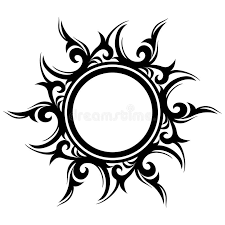 abstract sun flower stock vector image 49334751