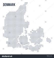 vector pixel map denmark isolated on stock vector 622300595