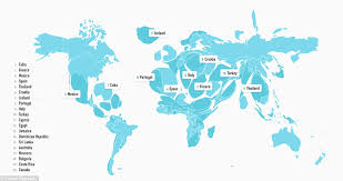 Portugal On The World Map Greece Second Biggest Country On World Map According To Where