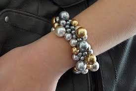 diy pearl bead bracelet images Homemade beginner jewelry making project a diy clustered pearl jpg