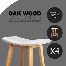 oak wood bar stools 4x oak wood bar stools wooden barstool dining chairs kitchen