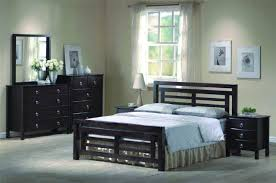 Headboard With Mirror by Furniture Black Stained Wood Bed With Headboard Using Blue