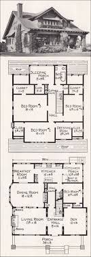 floor plans for craftsman style homes large california bungalow craftsman style home plan 1918