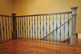 Dark Wood Banister Wrought Iron Staircase Spindles Home Design By Larizza