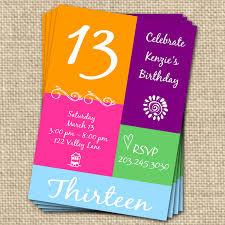 13th birthday invitation templates free alanarasbach com