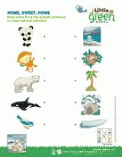 home sweet home animal habitats matching activity k 1st