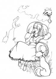 alice wonderland colouring pages coloring pages