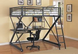 Steel Frame Bunk Beds by Bunk Bed With Desk For Your Kids Homesfeed