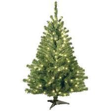 cheap pre lit trees december 2017