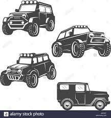 vintage jeep logo off road cars vector set stock photos u0026 off road cars vector set