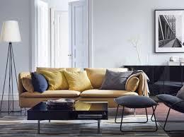 canap jaune moutarde salon avec canapé jaune moutarde ikea déco vrac