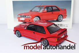Bmw M3 Red - autoart bmw m3 sport evolution e30 red modelcartrade com