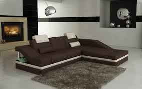 Leather Sofa Store Modern Brown Leather Sofa Miami Furniture Store The Kienandsweet