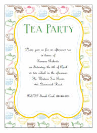 Invations Tea Party Invitation Template Orionjurinform Com