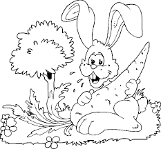rabbit coloring pages coloringpages1001