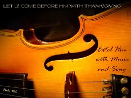 musical thanksgiving extol him with music and song christian rendering crossmap