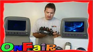nissan armada headrest dvd player onfair how to install car headrest dvd monitor to fuse box youtube