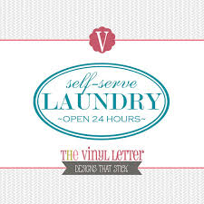 Laundry Room Hours - self serve laundry room open 24 hours vinyl wall decal home decor