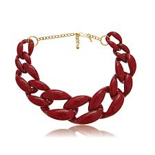 red chain link necklace images Kenneth jay lane gold link necklace hauteheadquarters jpg