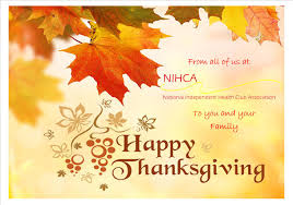 happy thanksgiving from nihca national independent health club
