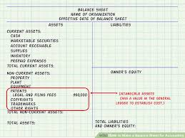 expert advice on how to make a balance sheet for accounting