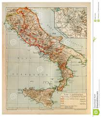 Map Of Rome Italy by Old Map Of Rome And Old Italy Stock Photo Image 60815328