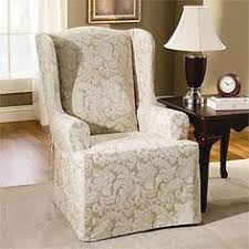 Wingback Chair Slipcover Pattern Pen Pal By Waverly Wing Chair Slipcover A Playfully Scripted