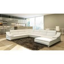 canap d angle cuir noir et blanc canapé d angle en cuir blanc et noir design roxane achat vente